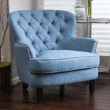 Light Blue Accent Chair Light Blue Accent Chair Tufted Upholstered Linen Club Chair Bronze