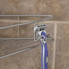 amazon com kenney 4 tier triangle basket tension pole shower amazon com kenney 4 tier triangle basket tension pole shower caddy satin nickel home kitchen