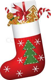 christmas socks christmas sock of gifts stock vector colourbox