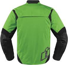 motorcycle racing jacket mens icon green textile stealth konflict motorcycle riding street