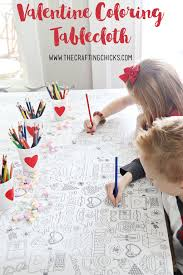 Valentine S Day Tablecloth by Valentine U0027s Day Coloring Tablecloth The Crafting