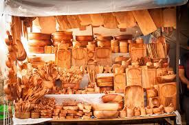 boutique ustensile cuisine magasin traditionnel en bois de marché en plein air d ustensiles de