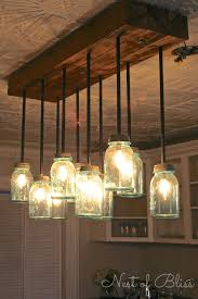 How To Make A Cardboard Chandelier Love This Tutorial Build It Diy Mason Jar Chandelier From Nest