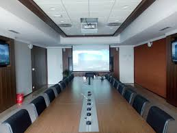 audio visual system vc room or video conferencing room board