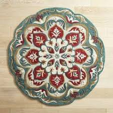Pier 1 Area Rugs Nalini Floral Round Rug 8 U0027 Round Rugs And Products