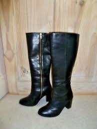 boots uk dune dune black leather tootin knee high boots uk 3 eu 36 rrp 140