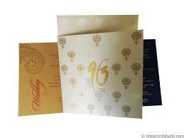 Diwali Invitation Cards For Party Lotus Themed Metallic Wedding Invitation Card