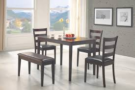 Black Modern Dining Room Sets Black Kitchen Table With Bench Within Black Kitchen Table With