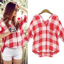 best new women u0027s plaid loose shirts casual oversized blouse