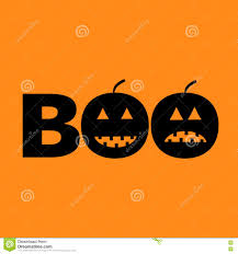 halloween black background pumpkin word boo text with smiling sad black pumpkin silhouette happy