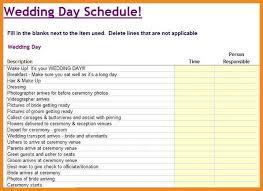 wedding itinerary template wedding itinerary template resume exles