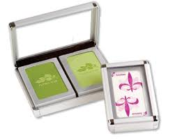 imprinted cards in metal box print your logo or design on