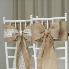 how to make chair sashes hessian wedding ebay
