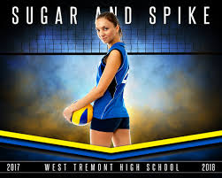 sports poster photo template fantasy volleyball photoshop
