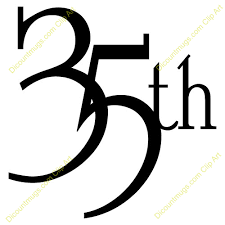 35 year anniversary 35th anniversary clipart