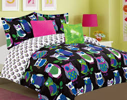 Teen Bedding And Bedding Sets by Black Multi Color Owl Theme Children U0027s Or Teen Bedding Set Bed In