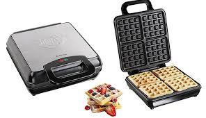 Domoclip Stainless Steel Waffle Maker 1100 W Makhsoom