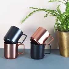 copper canister set kitchen copper and black coffee cups set of two espresso cups set