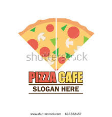 slogan cuisine pizza logo text space your slogan เวกเตอร สต อก 634532864
