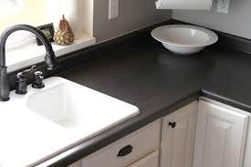 Black Faucets Kitchen Bathroom Corian Countertops Design Plus White Undermount Sink