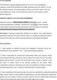 sample coaching contract templates download free u0026 premium