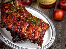 apple butter bbq ribs the midnight baker