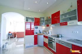 red kitchen cabinets gharexpert