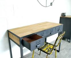 bureau industriel metal bureau metal bois takeoffnow co throughout bureau industriel metal