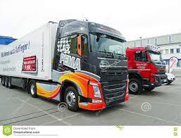 used volvo lorries modern volvo trucks editorial photo image 76357166