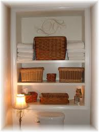 Bathroom With Shelves by Uncategorized Bathroom With Towels In A Basket Custom Carpenter