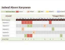 format rekap absensi pegawai jadwal absen karyawan office templates