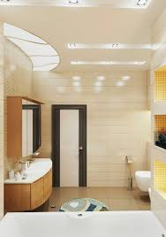 elegant small bathroom design in beige and brown color scheme