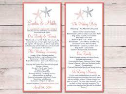 tea length wedding program template 559 best weddings images on weddings