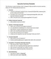 it executive summary template 31 executive summary templates free