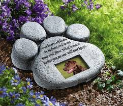 pet memorial stones paw print pet memorial from collections etc