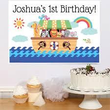1st birthday noah s ark 1st birthday party poster