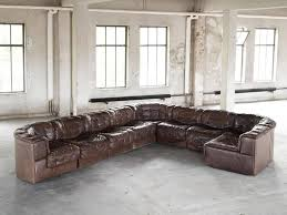 Large Modular Sofas De Sede Ds11 Large Modular Sofa In Brown Leather For Sale At 1stdibs