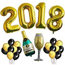 new year supplies gold 2018 balloons graduations for graduation