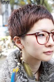 short hair glasses and earrings u2013 tokyo fashion news
