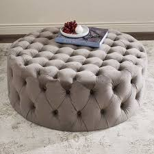 Upholstered Ottoman Coffee Table Best 25 Tufted Ottoman Ideas On Pinterest Tufted Ottoman Coffee