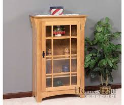 Small Bookcase With Doors Small Mission Single Door Bookcase Homestead Furniture