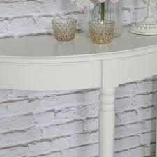 white half moon table louella range ivory half moon table melody maison