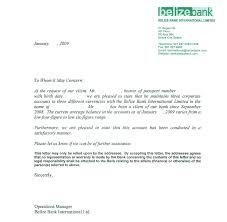 Embassy Letter From Bank Sle Bank Reference Letters Starting Business
