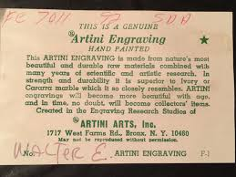 artini engraving this artini engraving says its numbered f 1 is this part of a