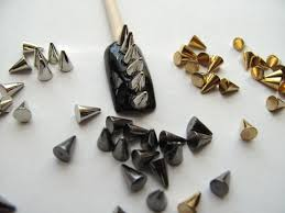 amazon com nail art 3d 150 mix cone spike studs flat back 50