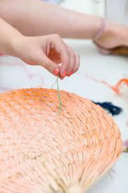 diy fans diy geometric embroidered fans sugar cloth diy