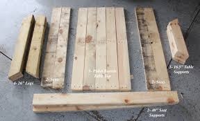 wooden childrens picnic table diy kids picnic table from pallet wood diy at needles and nails
