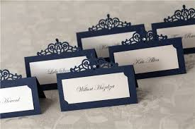 50 pcs royal blue place cards print your guest name cards set of