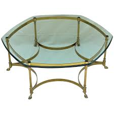 vintage la barge labarge brass coffee table heavy glass top