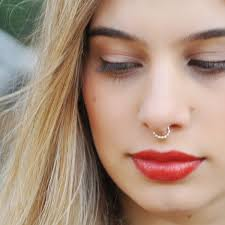 colored nose rings images 50 realistic fake piercing ideas without commitments jpg